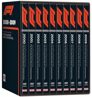 FORMULA ONE BOX SET 2000 To 2009