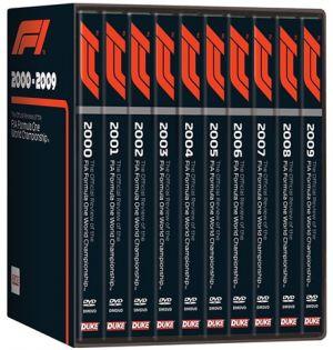 FORMULA ONE BOX SET 2000 To 2009